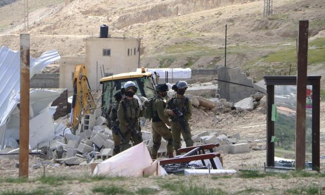 خلال أسبوعين: الاحتلال هدم وأوقف البناء بـ52 مبنى بالضفة والقدس