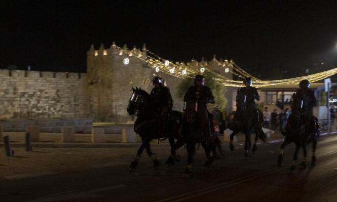 مواجهات ليلية بين شبان وقوات الاحتلال بباب العامود
