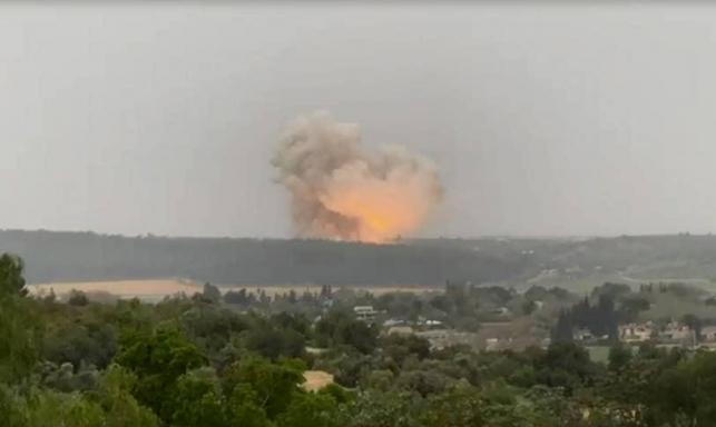 الرملة: انفجار قوي جدا خلال تجارب في مصنع أسلحة