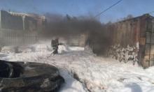 إصابة خطيرة إثر انفجار صهريج وقود بالنقب