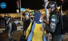 مجنّدة إسرائيلية تتصادم مع امرأة فلسطينية في باب العامود