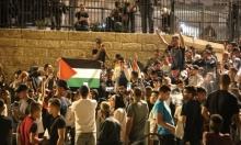 احتفالات شباب القدس باستعادة مُدرج باب العامود