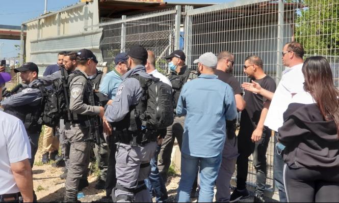 جديدة المكر: الشرطة تقمع تظاهرة ضد مخطط شارع 6 وتعتقل 3 محتجين
