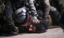 لحظات اعتقال شاب فلسطيني في الشيخ جراح