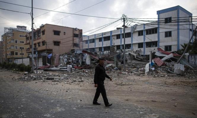 آثار دمار غارات الاحتلال على قطاع غزة