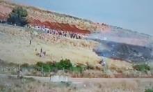 متظاهرون يقتحمون السياج الحدودي جنوبي لبنان