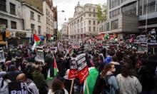 الآلاف يتظاهرون في لندن دعما للفلسطينيين