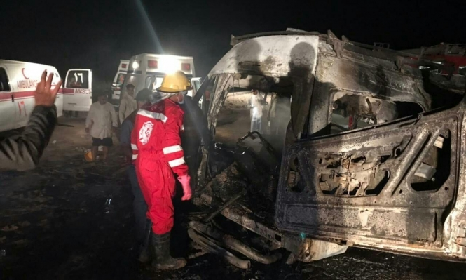 العراق: مصرع 14 شخصًا في حادث سير مروع في محافطة المثني