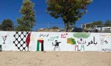 الحراك الجشي المستقل: عمال من مجلس الجش المحلي محو جداريّة إضراب الكرامة