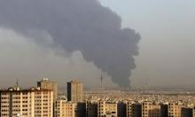 حريق في مصفاة نفط جنوب طهران