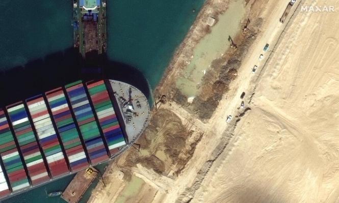 قناة السويس: ربان السفينة التي جنحت مسؤول عن ذلك