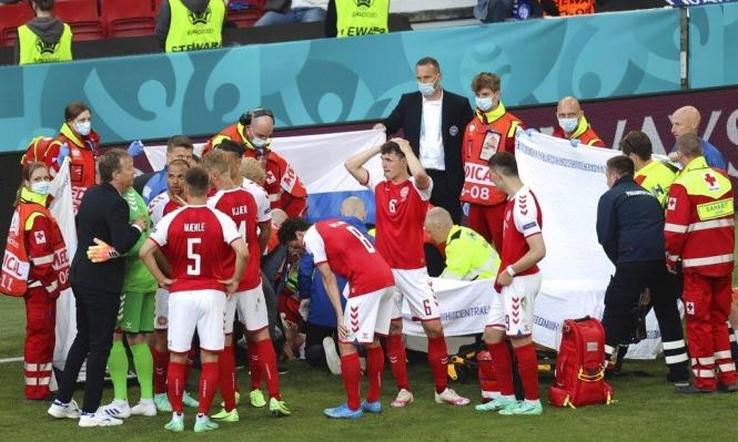 دراما في اليورو: إنعاش نجم الدانمارك إريكسن وإرجاء المباراة