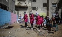 """""""بهمتنا حنعمرها"""": مبادرة نسوية بغزة لتنظيف وتشجير مناطق دمرها العدوان"""