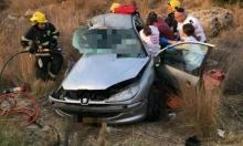مصرع ثلاثة شبان فلسطينيين في حادث طرق قرب نابلس