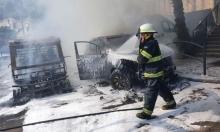 حريق في سيارات خصوصية بحيفا