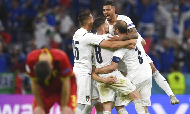 يورو 2020: إيطاليا تهزم بلجيكا وتتأهل لملاقاة إسبانيا