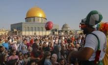 المسجد الأقصى ممتلئ بالزائرين في أوّل أيام عيد الأضحى