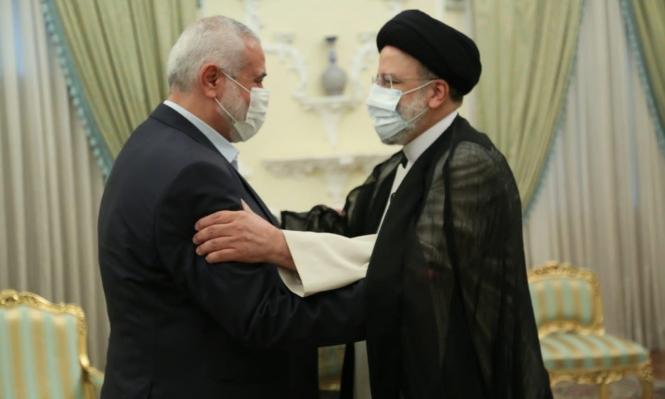 هنية يجتمع بالرئيس الإيراني الجديد