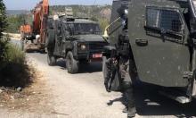 الاحتلال يخطر بوقف العمل بمسجد و3 منازل بنحالين