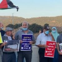 تظاهرة مسانِدة للأسرى أمام معتقل الجلمة