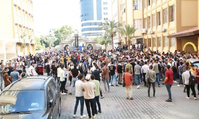 """غزة: الشرطة تعتدي على طلبة بجامعة الأزهر """"بعد رفضهم نزع الكوفية"""""""