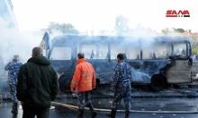 قتلى وجرحى بتفجير حافلة عسكرية في دمشق